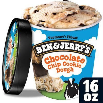 Ben & Jerry's Chocolate Chip Cookie Dough 8 x 16 oz -