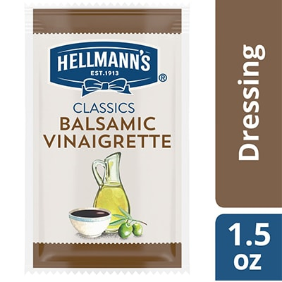 Hellmann's® Classics Balsamic Vinaigrette Sachet 102 x 1.5 oz - To your best salads with Hellmann's® Classics Balsamic Vinaigrette (102 x 1.5 oz) dressing that looks, performs and tastes like you made it yourself.