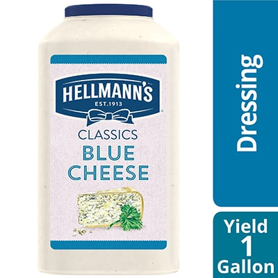 Hellmann's® Classics Blue Cheese Dressing 4 x 1 gal - To your best salads with Hellmann's® Classics Blue Cheese Dressing (4 x 1 gal) that looks, performs and tastes like you made it yourself.