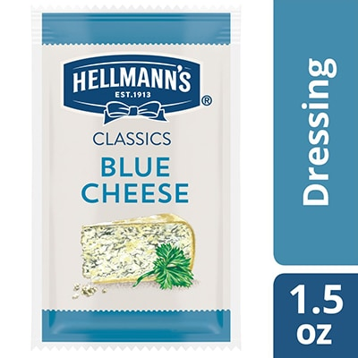 Hellmann's® Classics Blue Cheese Dressing Sachet 102 x 1.5 oz - To your best salads with Hellmann's® Classics Blue Cheese Dressing (102 x 1.5 oz) that looks, performs and tastes like you made it yourself.
