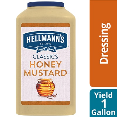 Hellmann's® Classics Honey Mustard Dressing 4 x 1 gal - To your best salads with Hellmann's® Classics Honey Mustard Dressing (4 x 1 gal) that looks, performs and tastes like you made it yourself.