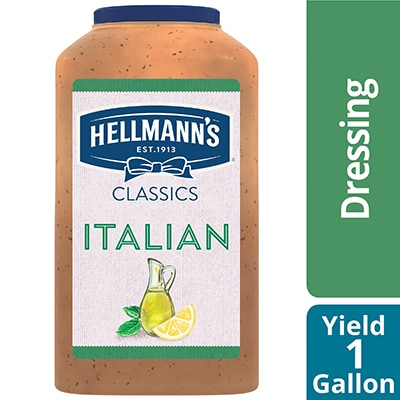 Hellmann's® Classics Italian Dressing 4 x 1 gal - To your best salads with Hellmann's® Classics Italian Dressing (4 x 1 gal) that looks, performs and tastes like you made it yourself.