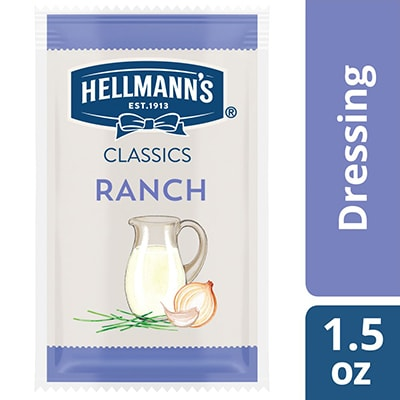 Hellmann's® Classics Ranch Dressing Sachet 102 x 1.5 oz - To your best salads with Hellmann's® Classics Ranch Dressing (102 x 1.5 oz) that looks, performs and tastes like you made it yourself.
