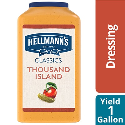 Hellmann's® Classics Thousand Island Dressing 4 x 1 gal - To your best salads with Hellmann's® Classics Thousand Island Dressing (4 x 1 gal) that looks, performs and tastes like you made it yourself.