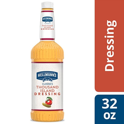 Hellmann's® Classics Thousand Island Salad Dressing 6 x 32 oz - To your best salads with Hellmann's® Classics Thousand Island Salad Dressing (6 x 32 oz) that looks, performs and tastes like you made it yourself.
