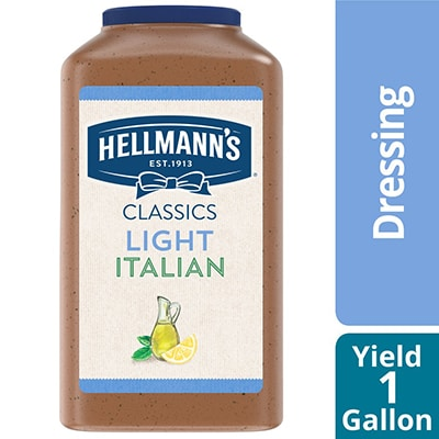 Hellmann's® Light Italian Salad Dressing 4 x 1 gal - To your best salads with Hellmann's® Light Italian Salad Dressing (4 x 1 gal) that looks, performs and tastes like you made it yourself.