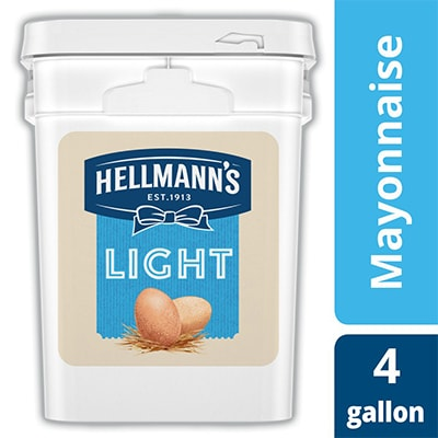 Hellmann's® Light Mayonnaise Pail 1 x 4 gal - Hellmann's® Light Mayonnaise Pail (1 x 4 gal) brings out the flavor of quality meat and produce.