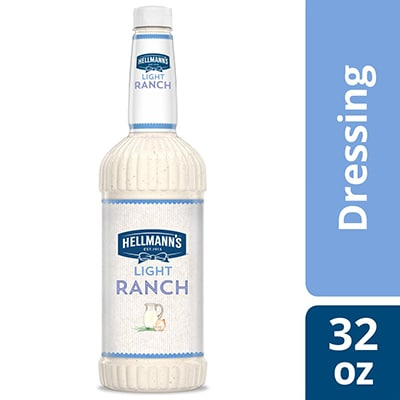 Hellmann's® Light Ranch Salad Dressing 6 x 32 oz - To your best salads with Hellmann's® Light Ranch Salad Dressing (6 x 32 oz) that looks, performs and tastes like you made it yourself.