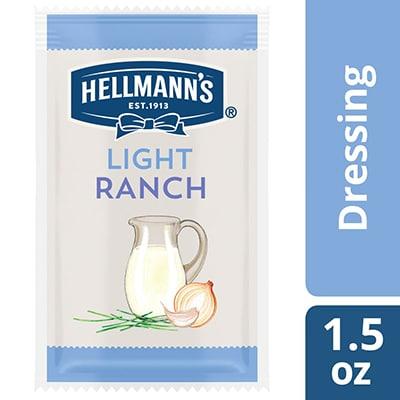 Hellmann's® Light Ranch Salad Dressing Sachet 102 x 1.5 oz - To your best salads with Hellmann's® Light Ranch Salad Dressing (102 x 1.5 oz) that looks, performs and tastes like you made it yourself.