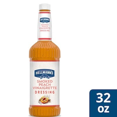 Hellmann's® Smoked Peach Vinaigrette 6 x 32 oz - I'm constantly looking for new flavor combinations like the Hellmann's® Smoked Peach Vinaigrette (6 x 32 oz) to keep my salads fresh and exciting.