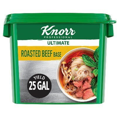 Knorr® Professional Ultimate Beef Bouillon Base 4 x 5 lb - Excess salt in bases masks the true flavor of soups