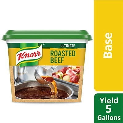 Knorr® Professional Ultimate Beef Bouillon Base 6 x 1 lb - Excess salt in bases masks the true flavor of soups