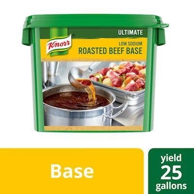 Knorr® Professional Ultimate Low Sodium Beef Bouillon Base 4 x 5 lb -
