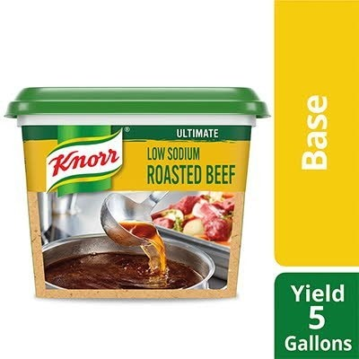 Knorr® Professional Ultimate Low Sodium Beef Bouillon Base 6 x 1 lb - Excess salt in bases masks the true flavor of soups