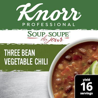 Knorr® Soup Du Jour Three Bean Vegetable Chili 4 x 28.2 oz -