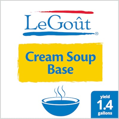 LeGout® Cream Soup Base 6 x 25.2 oz - Scratch white sauce can scorch