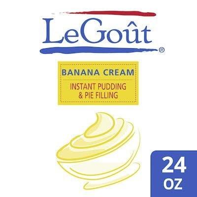 LeGout® Instant Banana Cream Pudding & Pie Filling 12 x 24 oz -