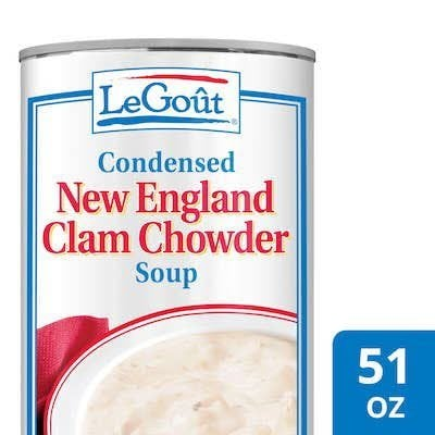 LeGout® New England Clam Chowder Canned Soup 12 x 50 oz -