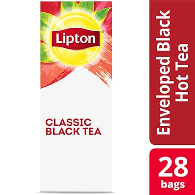 Lipton® Hot Tea Classic Black 6 x 28 bags - Lipton varieties such as the Lipton® Hot Tea Classic Black (6 x 28 bags) suit every mood.