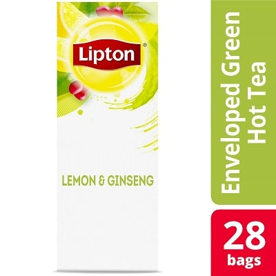 Lipton® Hot Tea Lemon Ginseng 6 x 28 bags - Lipton varieties such as the Lipton® Hot Tea Lemon Ginseng (6 x 28 bags) suit every mood.