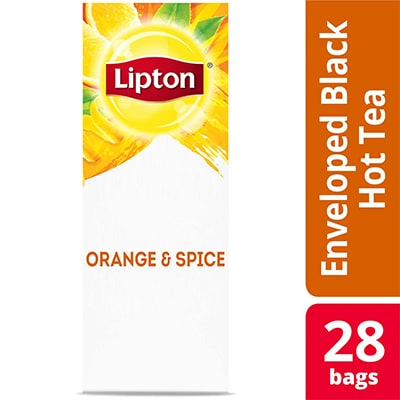 Lipton® Hot Tea Orange & Spice 6 x 28 bags - Lipton varieties such as the Lipton® Hot Tea Orange & Spice (6 x 28 bags) suit every mood.