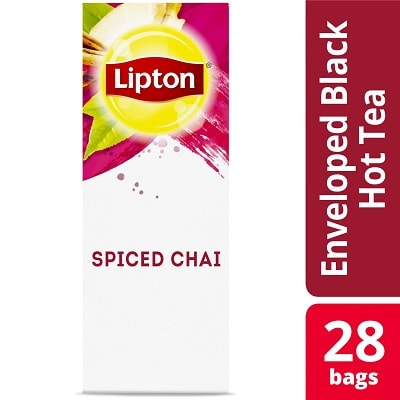 Lipton® Hot Tea Spiced Chai 6 x 28 bags - Lipton varieties such as the Lipton® Hot Tea Spiced Chai (6 x 28 bags) suit every mood.