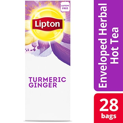Lipton® Hot Tea Turmeric Ginger 6 x 28 bags - Lipton varieties such as the Lipton® Hot Tea Turmeric Ginger (6 x 28 bags) suit every mood.