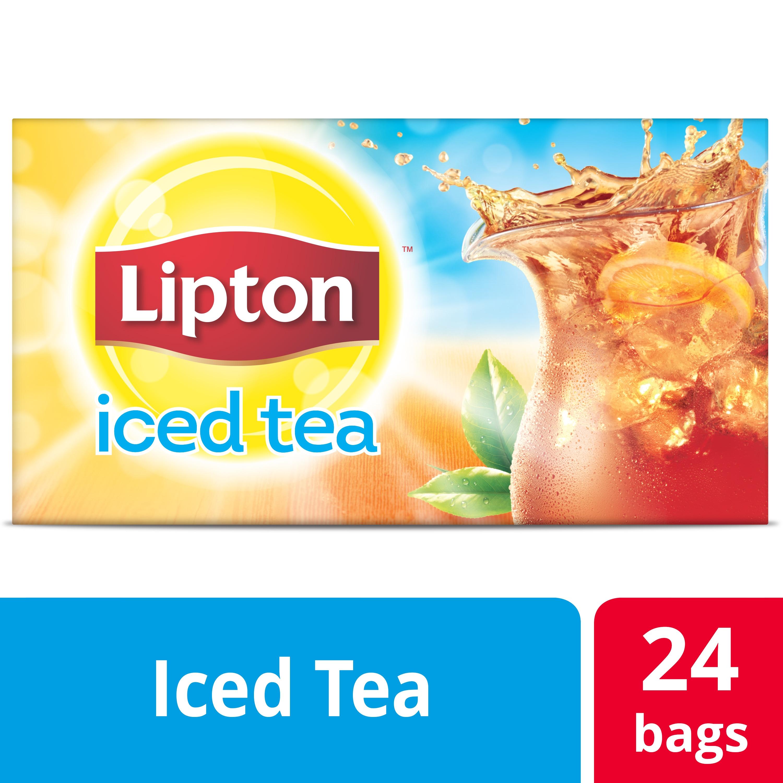 Lipton® Iced Tea Unsweetened Black 4 x 24 bags -