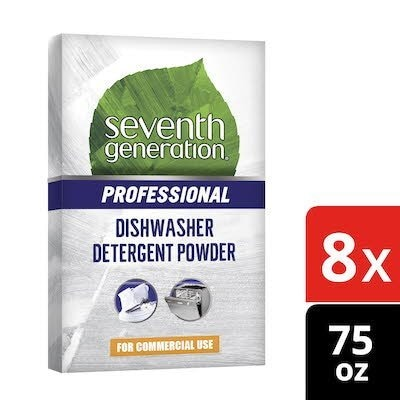 Seventh Generation Professional Dishwasher Detergent Powder 75 oz x 8 -