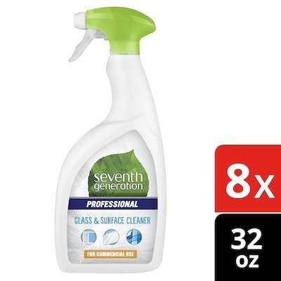 Seventh Generation Professional Glass and Surface Cleaner 32 oz x 8 -