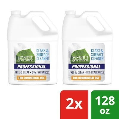 Seventh Generation Professional Glass and Surface Cleaner Refill 2 x 128 oz -