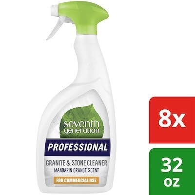 Seventh Generation Professional Granite and Stone Cleaner 32 oz x 8 -