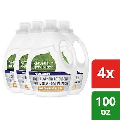 Seventh Generation Professional Laundry Detergent 100 oz x 4 -