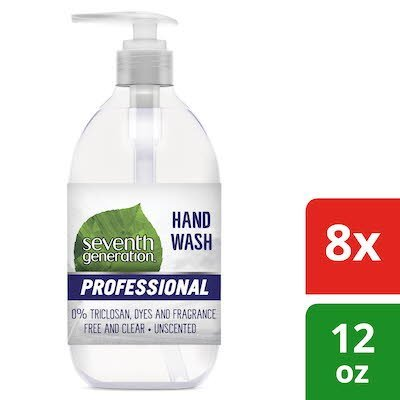 Seventh Generation Professional Liquid Hand Soap Dispenser 12 oz x 8 -