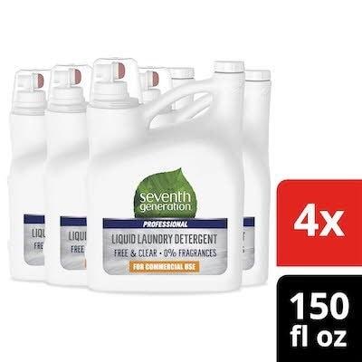 Seventh Generation Professional Liquid Laundry Detergent 150 oz x 4 -