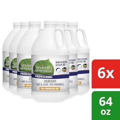 Seventh Generation Professional Non Chlorine Bleach 64 oz x 6 -