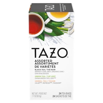 TAZO® Hot Tea Assorted Variety 6 x 24 bags - We've got our own thing brewing the TAZO® Hot Tea Assorted Variety (6 x 24 bags): dare to be different