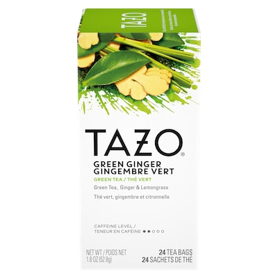 TAZO® Hot Tea Green Ginger 6 x 24 bags - We've got our own thing brewing the TAZO® Hot Tea Green Ginger (6 x 24 bags): dare to be different
