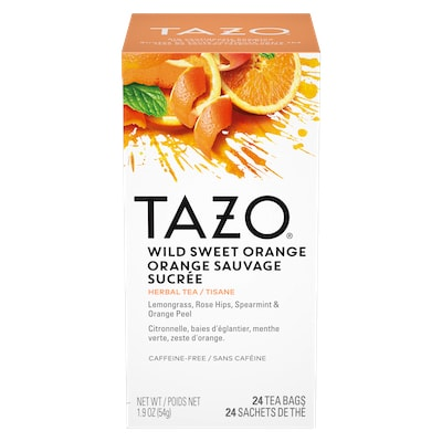 TAZO® Hot Tea Wild Sweet Orange 6 x 24 bags - We've got our own thing brewing the TAZO® Hot Tea Wild Sweet Orange (6 x 24 bags): dare to be different