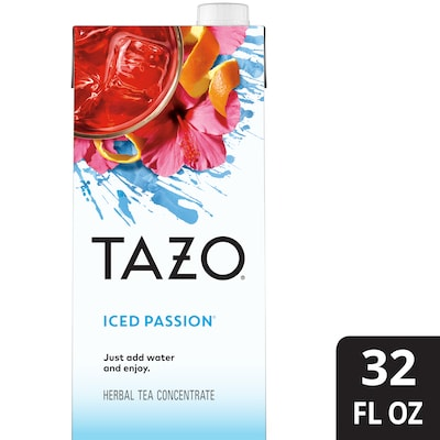 TAZO® Iced Tea Concentrate 1:1 Passion 6 x 32 oz -
