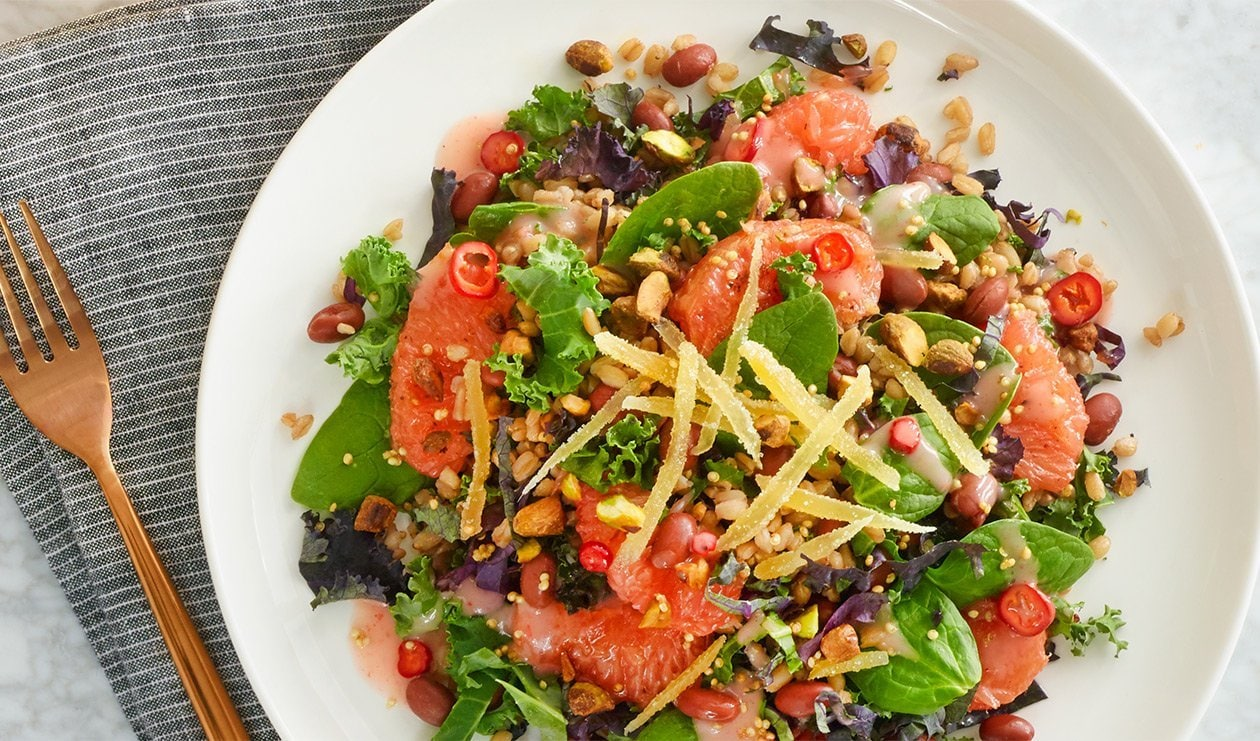 Savory Farro and Grapefruit Salad