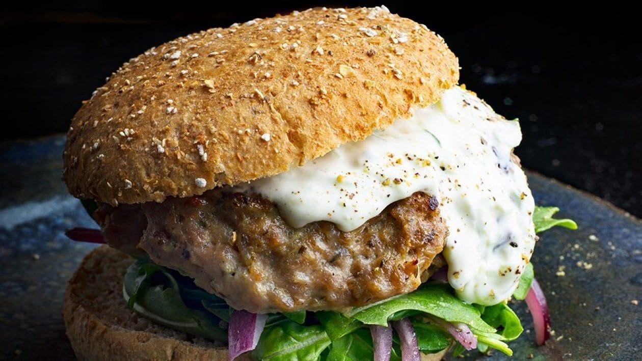 Lamb and Eggplant Burger