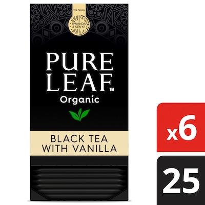 Pure Leaf® Organic Black with Vanilla Hot Tea 6 x 25 bags -