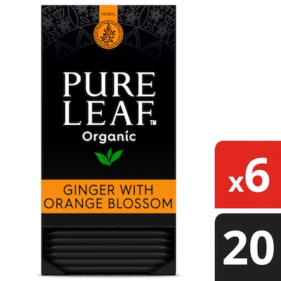 Pure Leaf® Organic Ginger with Orange Blossom Herbal Hot Tea 6 x 20 bags -