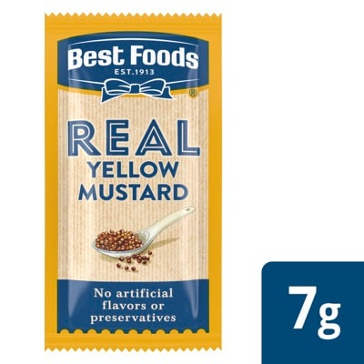 Best Foods® Yellow Mustard Stick Pack 500 x 0.25 oz -