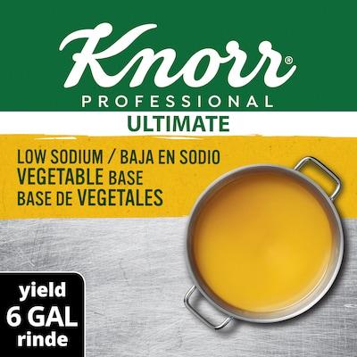Knorr® Professional Ultimate Low Sodium Vegetable Bouillon Base 6 x 1 lb -