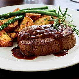 Filet Mignon with Garlic and Rosemary Sauce